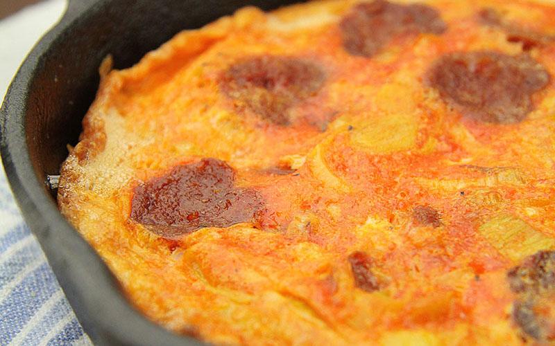 Recipe: A Little Leek & Chorizo Frittata
