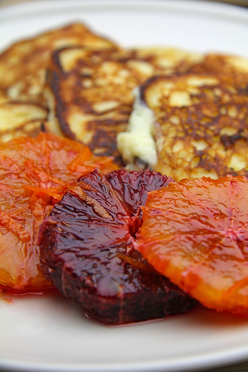 Ricotta Pancakes with Marinated Blood Oranges recipe – The Artisan Food Trail