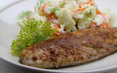 Recipe: Spiced Mackerel with Fennel Slaw