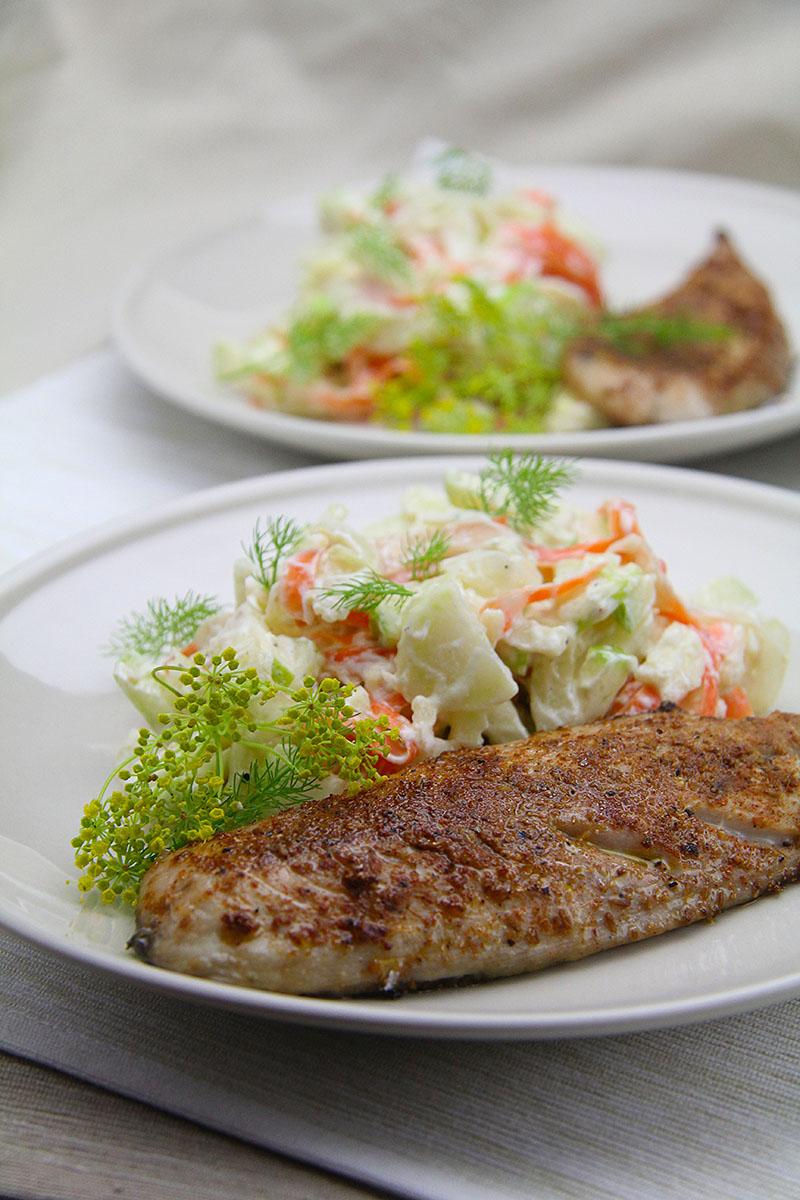Spiced Mackerel with Fennel Slaw recipe – The Artisan Food Trail