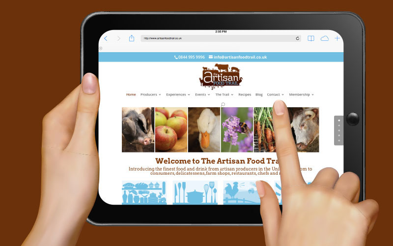 New look website for The Artisan Food Trail