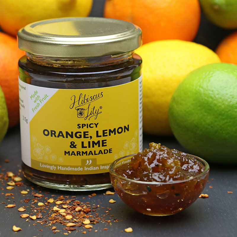 Spicy Orange, Lemon & Lime Marmalade – Hibiscus Lily - The Artisan Food Trail