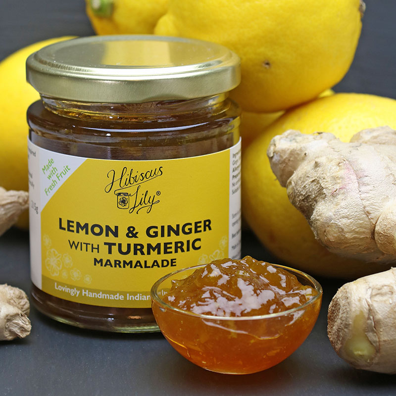 Lemon & Ginger with Turmeric Marmalade – Hibiscus Lily - The Artisan Food Trail