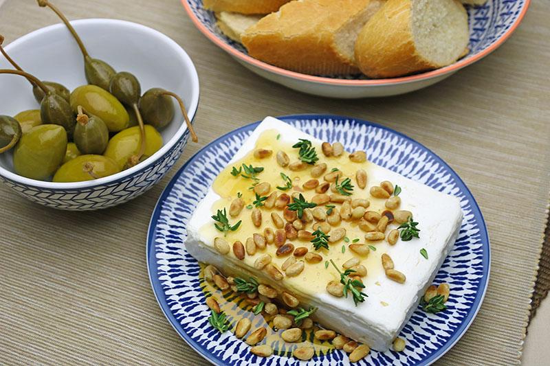 Feta with honey – Euzoea Greek Honey – NV Greek Foods – The Artisan Food Trail