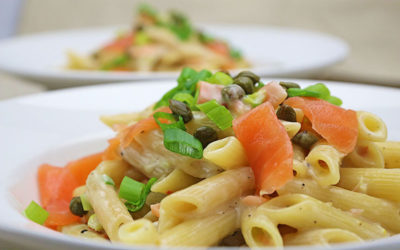 Recipe: Pasta with Smoked Salmon and Capers