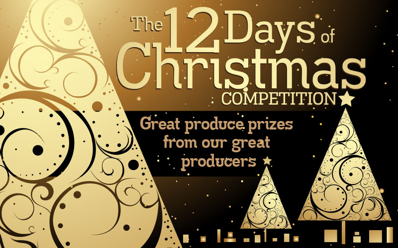 Lots of food and drink prizes to be won in our 12 Days of Christmas competition