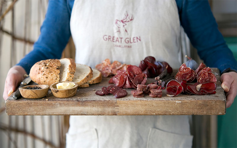 Wild Venison Charcuterie Box – Great Glen Charcuterie 01 – The Artisan Food Trail