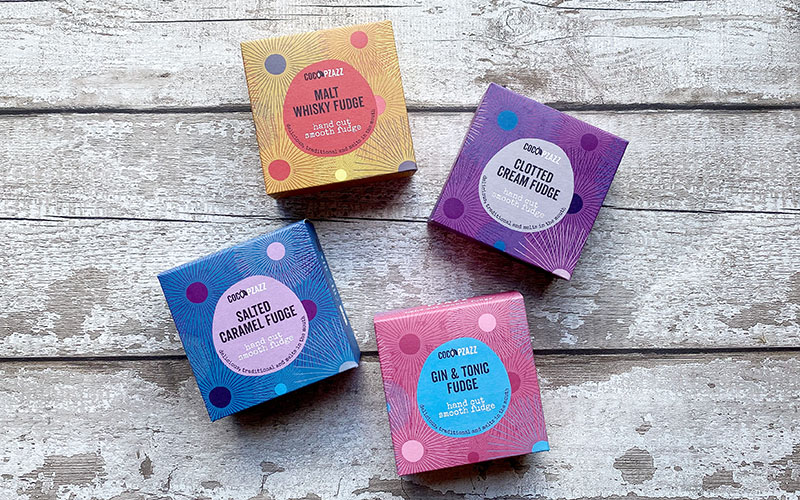 Brand new fudge boxes from Coco Pzazz
