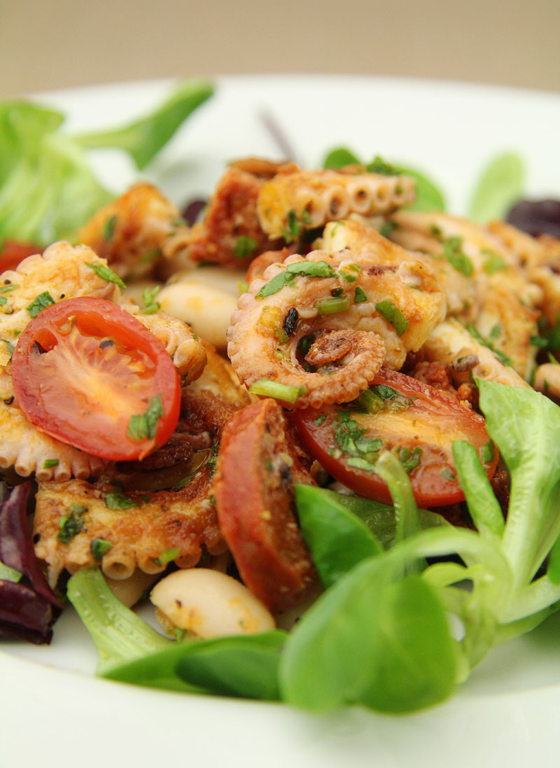 Octopus and Chorizo Salad 1 - The Artisan Food Trail