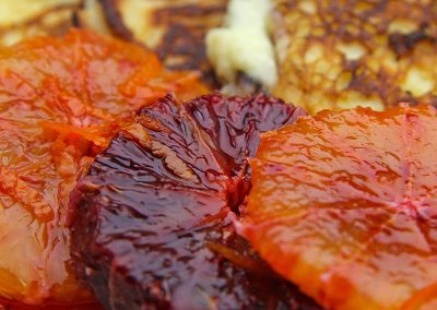 Ricotta Pancakes with Marinated Oranges