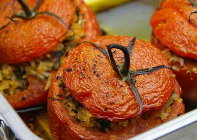 Roasted Rice-Stuffed Tomatoes