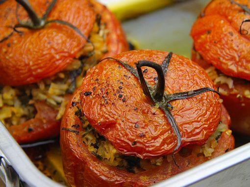 Roasted Rice-Stuffed Tomatoes