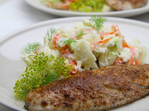 Spiced Mackerel with Fennel Slaw