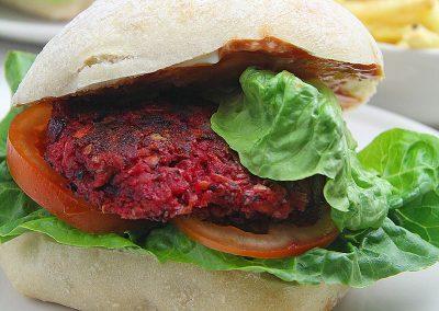 Super Beetroot Veggie Burgers