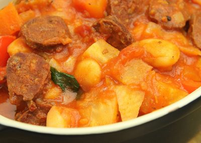 Wild Venison Chorizo and Butter Bean Stew