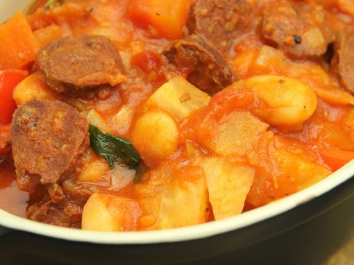 Wild Venison Chorizo and Butter Bean Stew