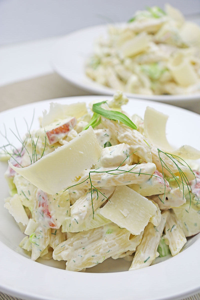 chicken fennel apple pasta salad 1 - The Artisan Food Trail