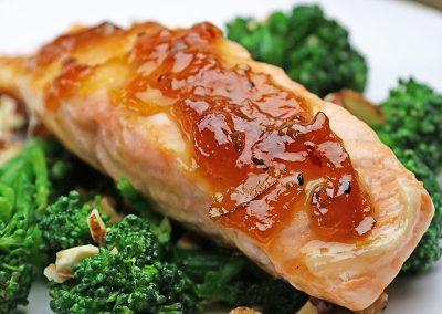 Spicy Marmalade Glazed Salmon