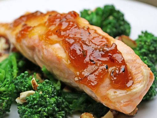 Spicy Marmalade Glazed Salmon