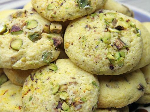 Saffron & Pistachio Biscuits