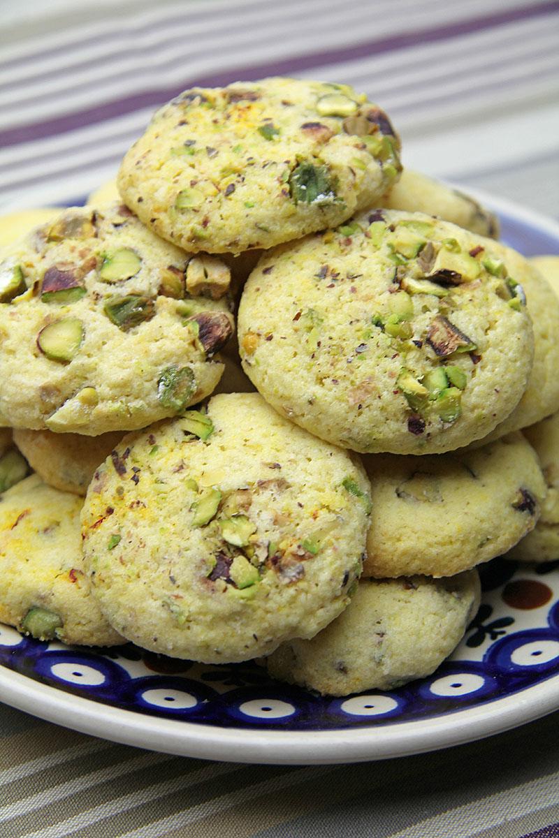 Saffron & Pistachio Biscuits Recipe – The Artisan Food Trail
