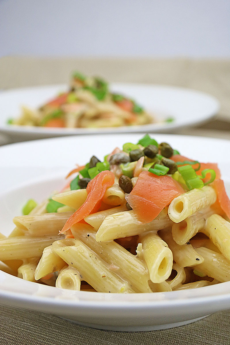 Pasta with Smoked Salmon and Capers Recipe 1 – The Artisan Food Trail